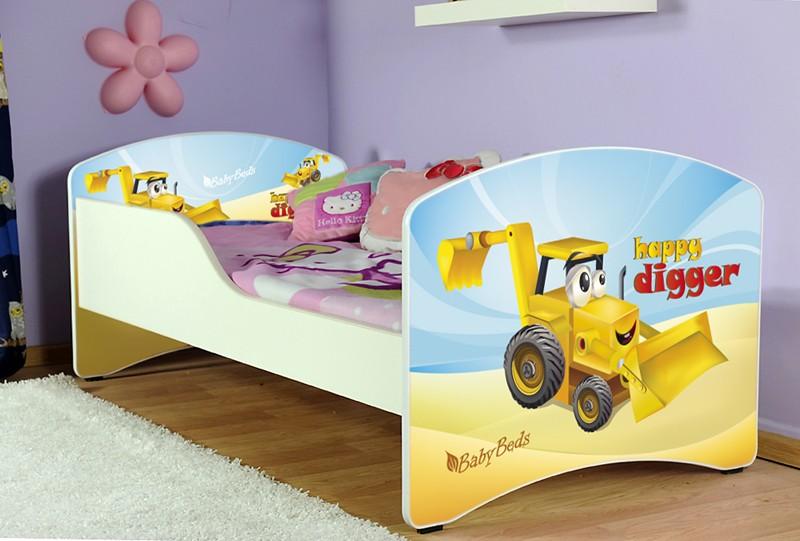 ArtAJ Detská posteľ Igor Žltý Bager 04 Typ: bez úložného priestoru, Cyra: 180 x 80 cm