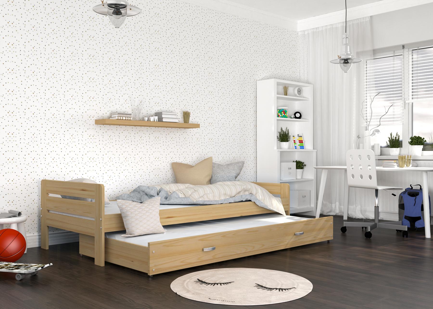ArtAJ Detská posteľ Ben Farba: Borovica, Typ: s matracom