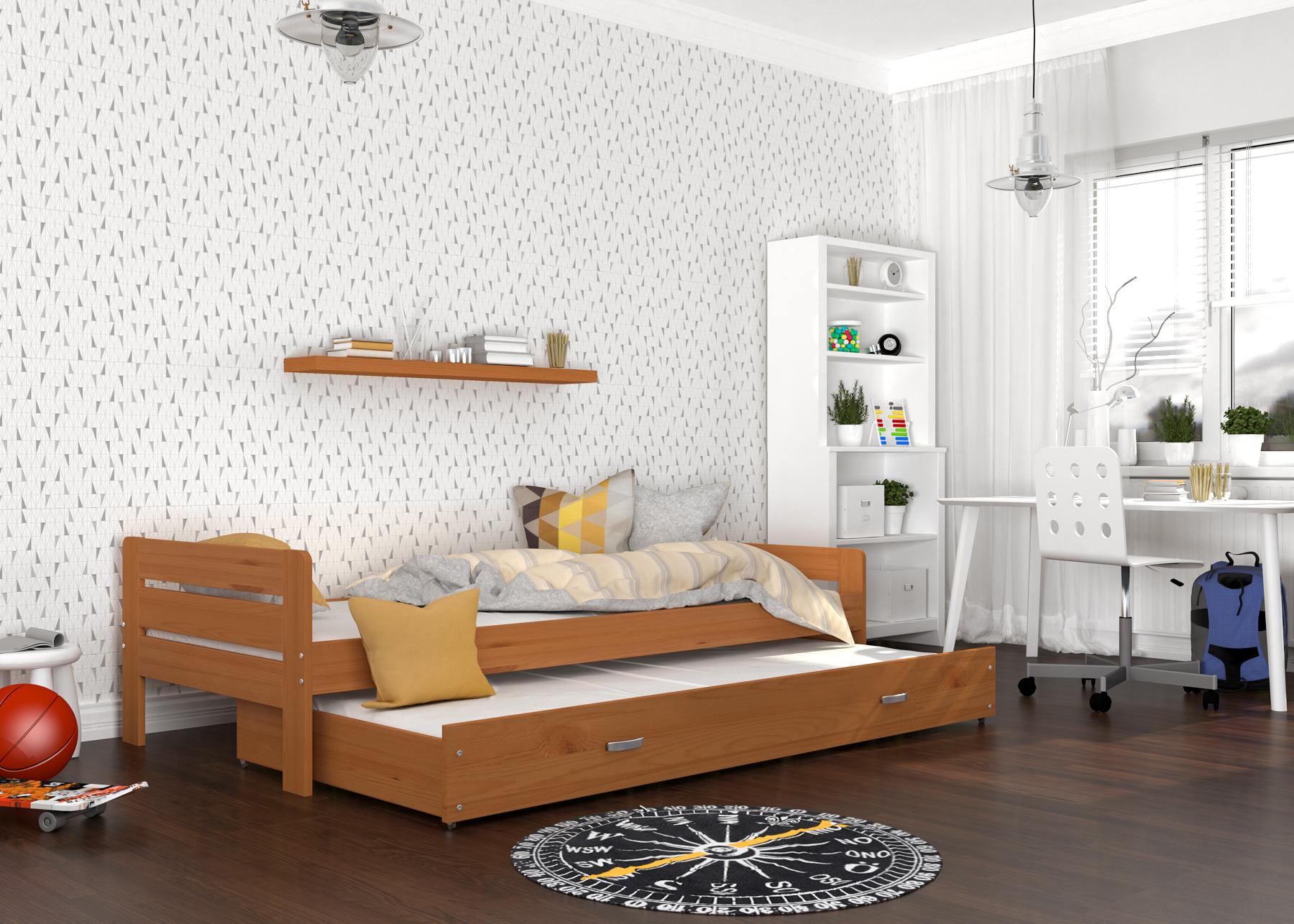 ArtAJ Detská posteľ Ben Farba: Jelša, Typ: s matracom
