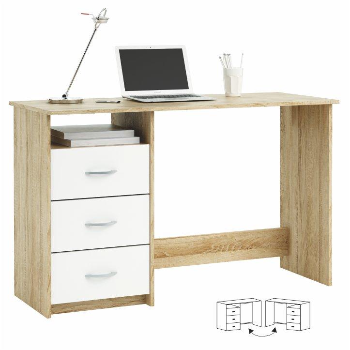 Tempo Kondela PC stôl Laristote dub sonoma/biela