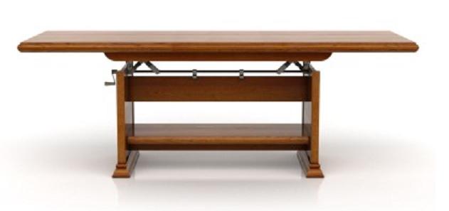 BRW Konferenčný stolík KENT ELAST 130/170 Farba: Gaštan