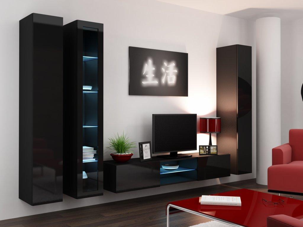 Artcam Obývacia stena Vigo 17 Farba: Čierna/čierny lesk