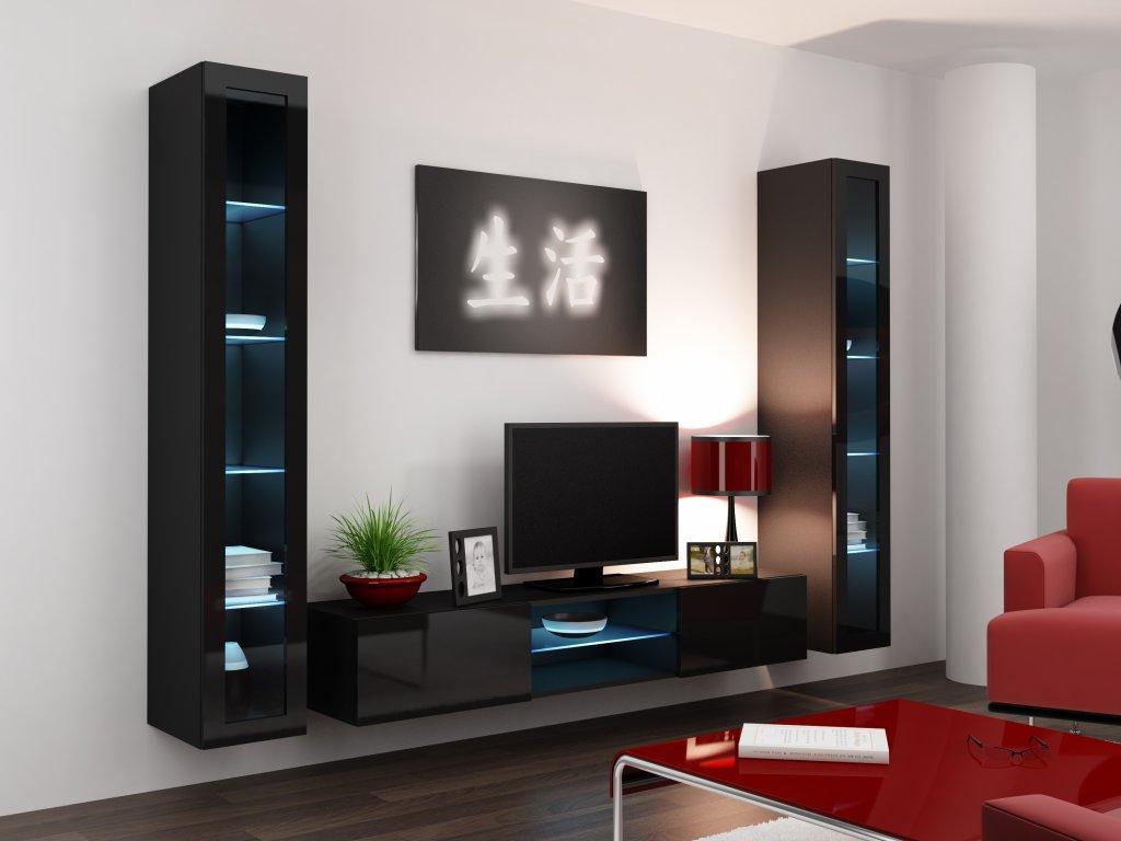 Artcam Obývacia stena Vigo 20 Farba: Čierna/čierny lesk