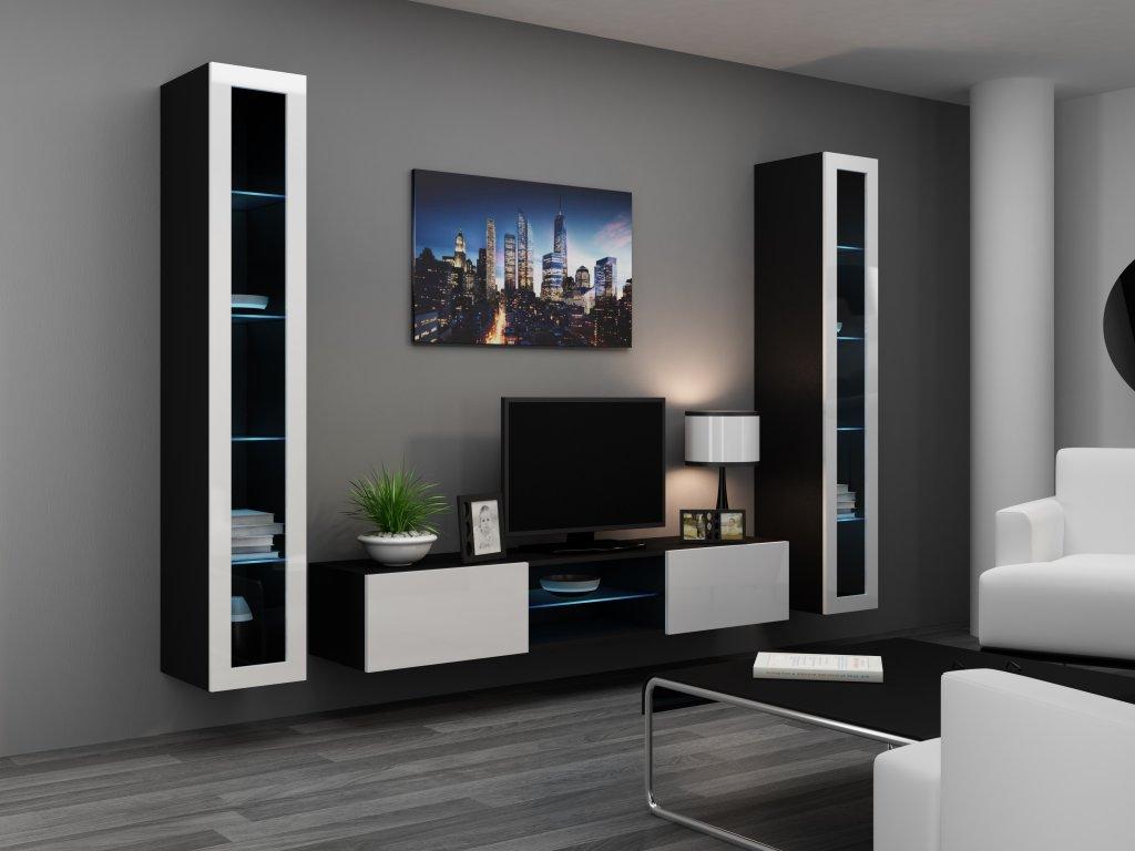 Artcam Obývacia stena Vigo 20 Farba: čierna/biely lesk