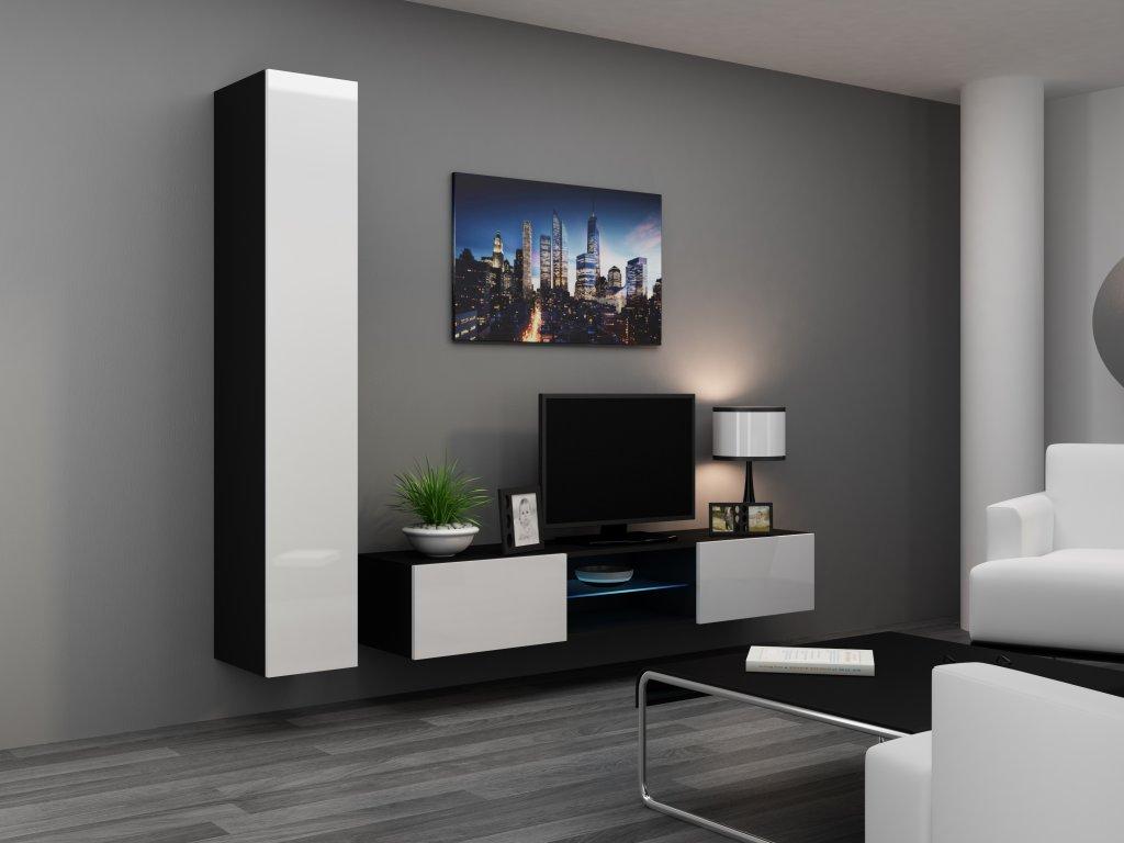 Artcam Obývacia stena Vigo 21 Farba: čierna/biely lesk