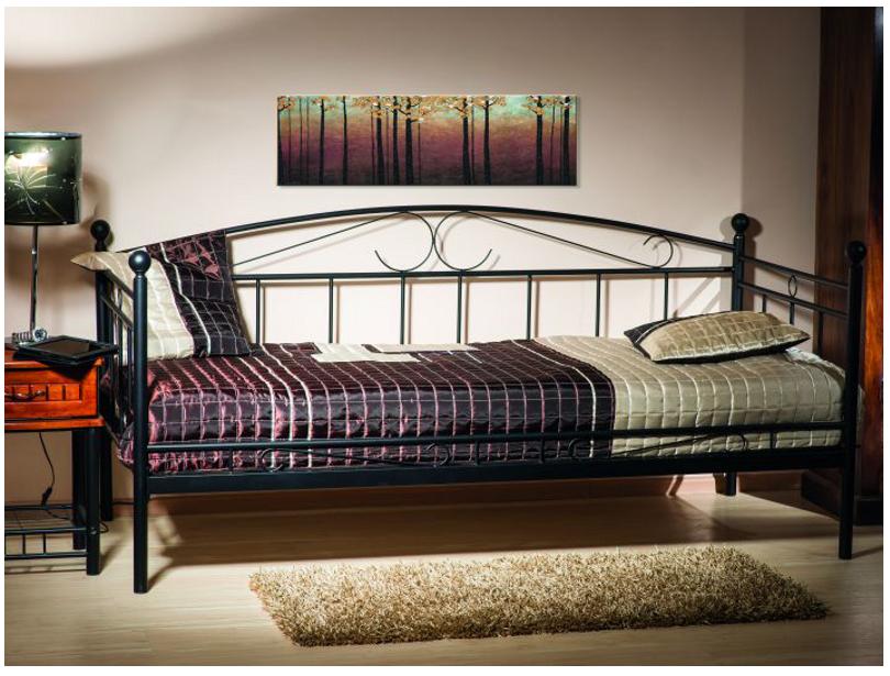 Signal Jednolôžková posteľ ANKARA Farba: Čierna
