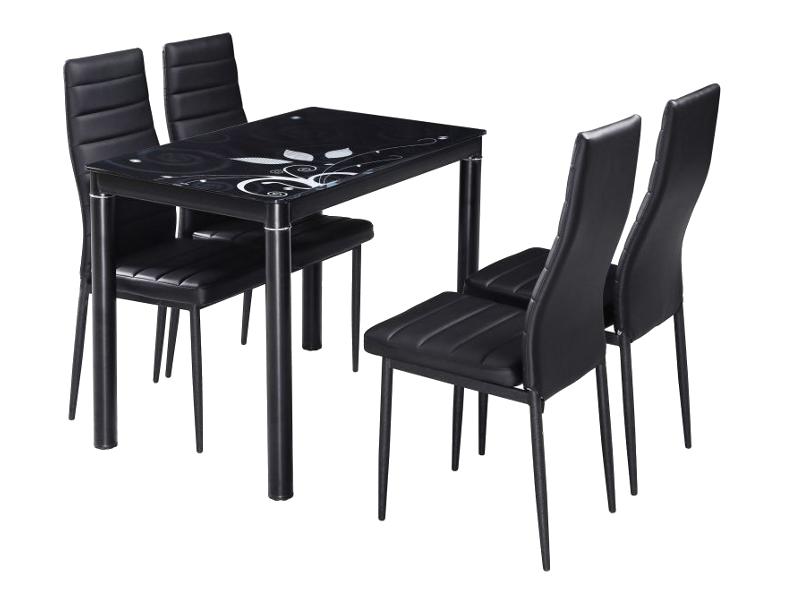 Signal Jedálenský stôl DAMAR Farba: Čierna