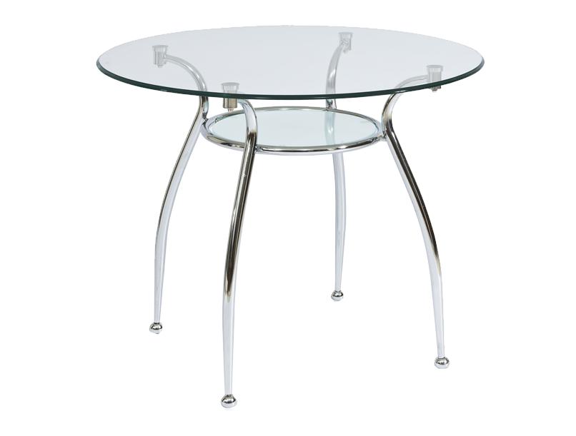 Okrúhly jedálenský stôl FINEZJA A Farba: Priehľadná