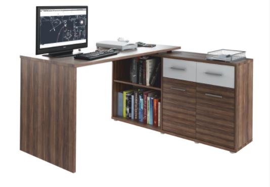 Tempo Kondela PC stôl RAFAEL Farba: Slivka / biela