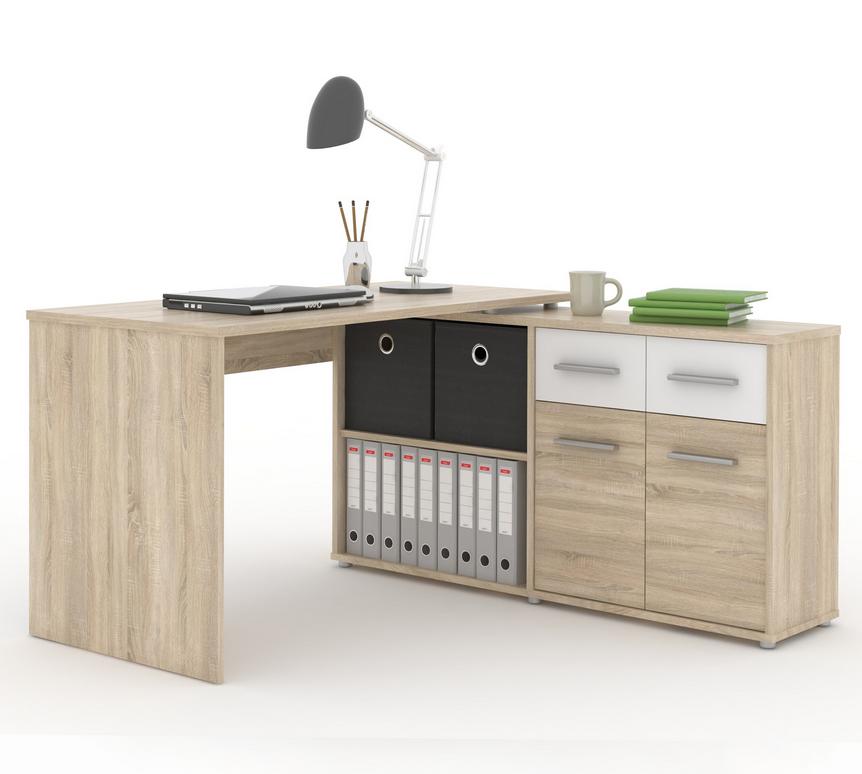 Tempo Kondela PC stôl RAFAEL Farba: Dub sonoma / biela