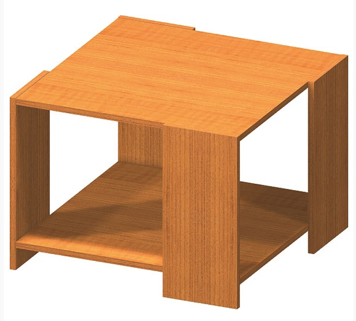 Tempo Kondela Konferenčný stolík TEMPO ASISTENT NEW 026 Farba: Čerešňa