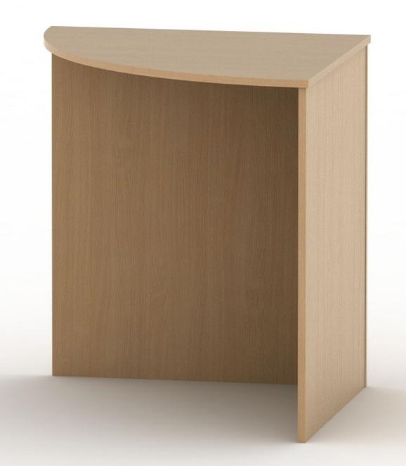Tempo Kondela Rohový oblúkový stôl TEMPO ASISTENT NEW 024 Farba: Buk