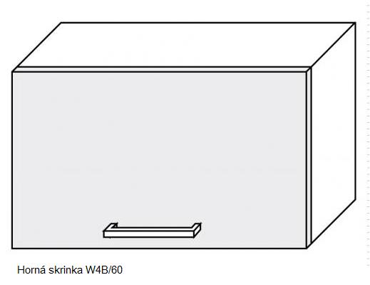 Kuchynská linka PLATINUM Kuchyňa: Horná skrinka W4B/60 / (ŠxVxH) 60 x 36 x 30 cm