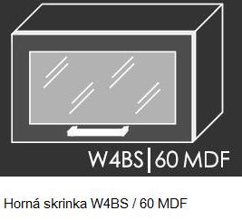 Kuchynská linka PLATINUM Kuchyňa: Horná skrinka W4BS/60 MDF - drevený rám v striebornom morení / (ŠxVxH) 60 x 36 x 30 cm