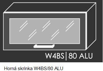 Kuchynská linka PLATINUM Kuchyňa: Horná skrinka W4BS/80 ALU - hliníkový rám skrinky (ŠxVxH) 80 x 36 x 30-32,5 cm