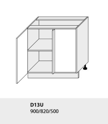 Kuchynská linka PLATINUM Kuchyňa: Spodná skrinka D13U /(ŠxVxH) 90 x 82 x 50 cm