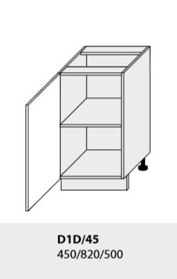 Kuchynská linka PLATINUM Kuchyňa: Spodná skrinka D1D/45 (ŠxVxH) 45 x 82 x 50 cm