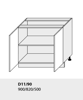 Kuchynská linka PLATINUM Kuchyňa: Spodná skrinka D11/90 (ŠxVxH) 90 x 82 x 50 cm