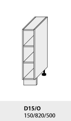 Kuchynská linka PLATINUM Kuchyňa: Dolná skrinka 15/O /(ŠxVxH) 15 x 82 x 50 cm