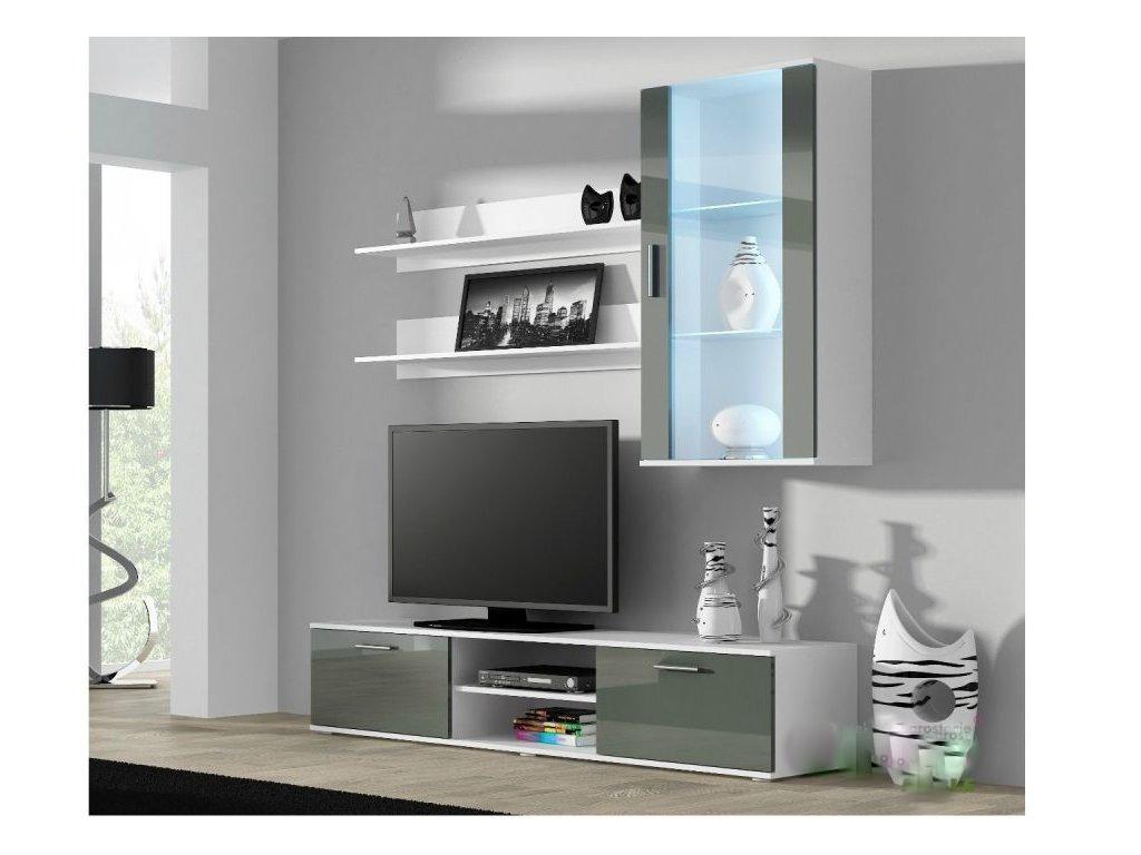 Artcam Obývacia stena Soho 5 Farba: Biela/sivý lesk