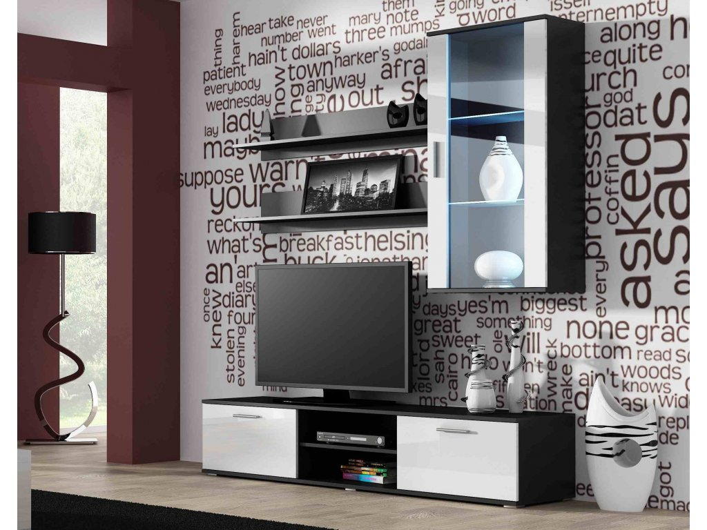 Artcam Obývacia stena Soho 5 Farba: čierna/biely lesk