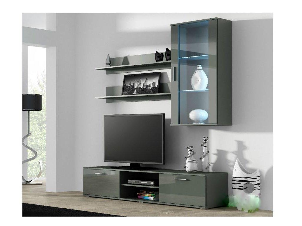 Artcam Obývacia stena Soho 5 Farba: Sivá/sivý lesk
