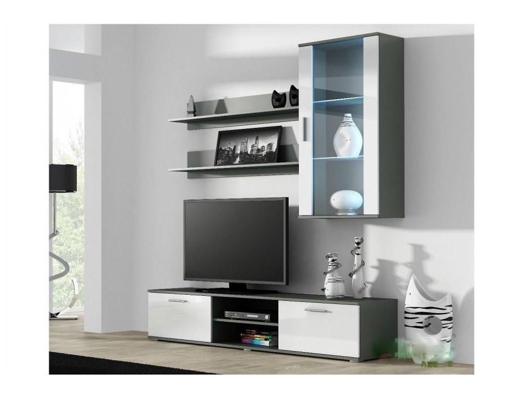 Artcam Obývacia stena Soho 5 Farba: Sivá/biely lesk