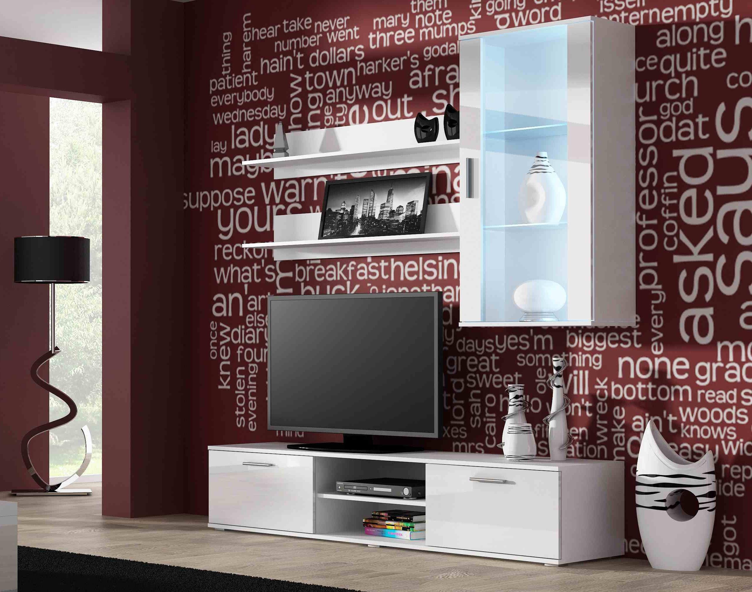 Artcam Obývacia stena Soho 5 Farba: Biela/biely lesk