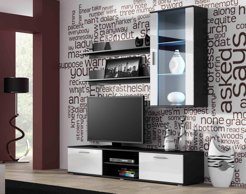 Artcam Obývacia stena Soho 5 čierna/biely lesk