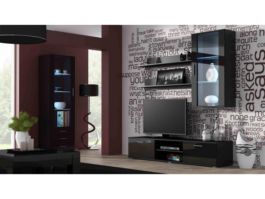 Artcam Obývacia stena Soho 6 Farba: Čierna/čierny lesk
