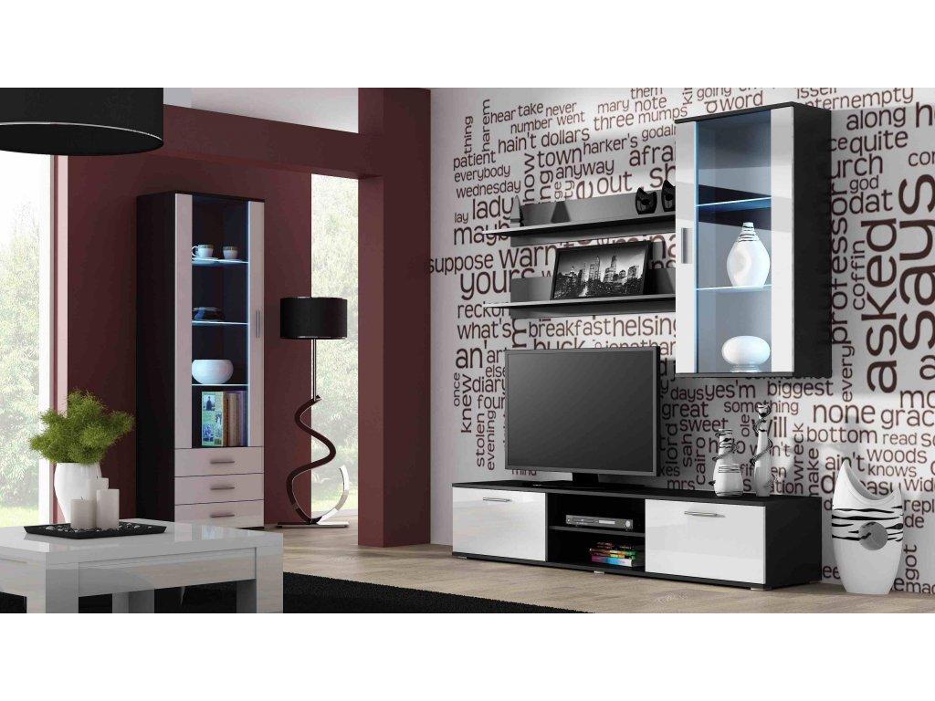 Artcam Obývacia stena Soho 6 Farba: čierna/biely lesk