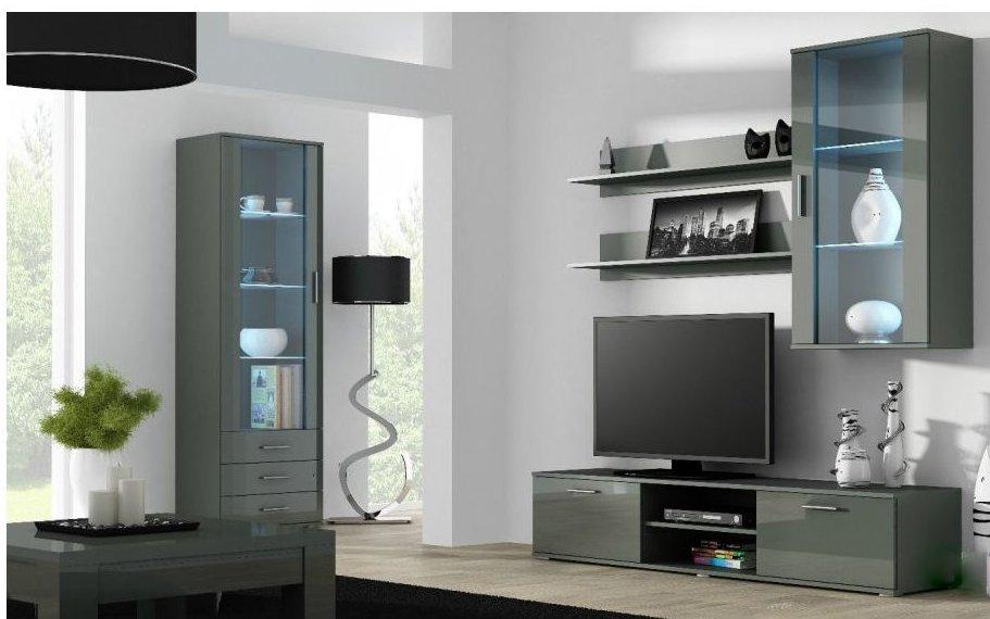 Artcam Obývacia stena Soho 6 Farba: Sivá/sivý lesk