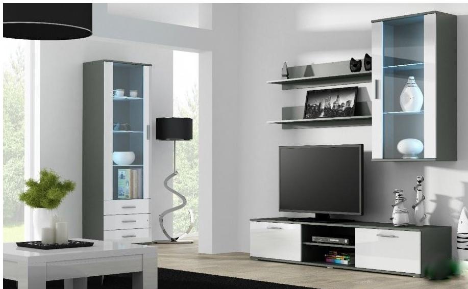 Artcam Obývacia stena Soho 6 Farba: Sivá/biely lesk