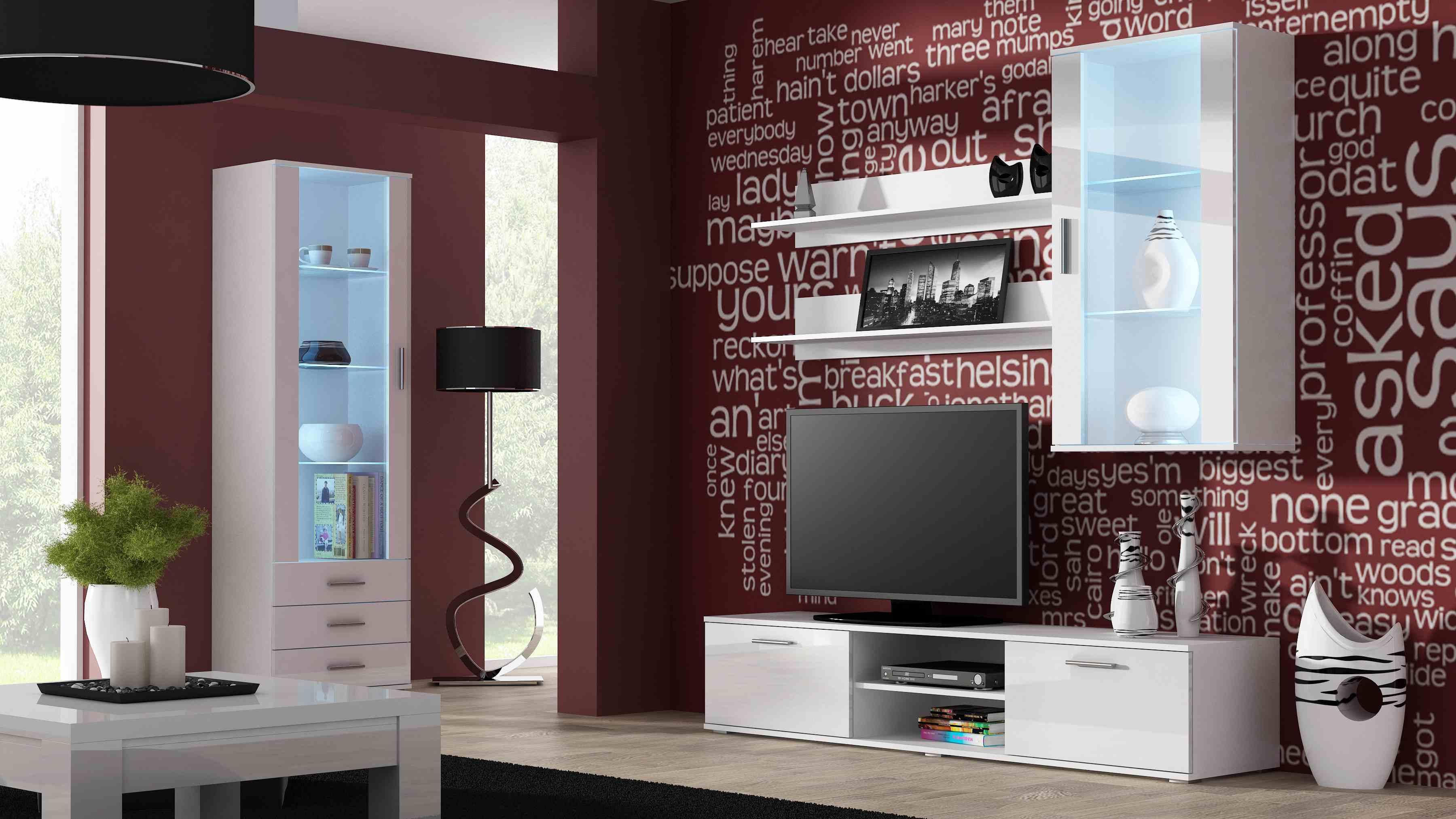 Artcam Obývacia stena Soho 6 Farba: Biela/biely lesk