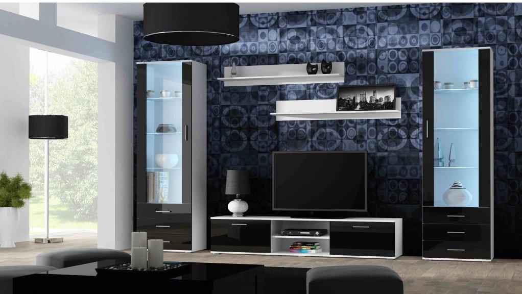 Artcam Obývacia stena Soho 4 Farba: biela/čierny lesk