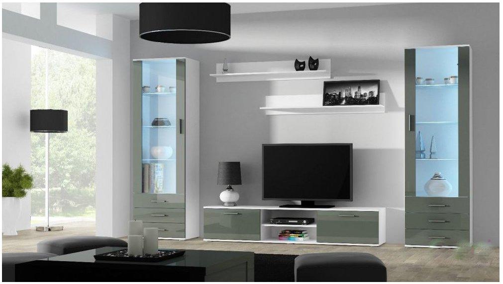 Artcam Obývacia stena Soho 4 Farba: Biela/sivý lesk