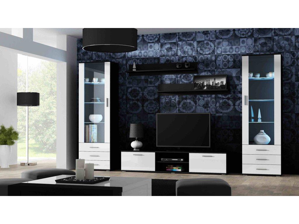 Artcam Obývacia stena Soho 4 Farba: čierna/biely lesk