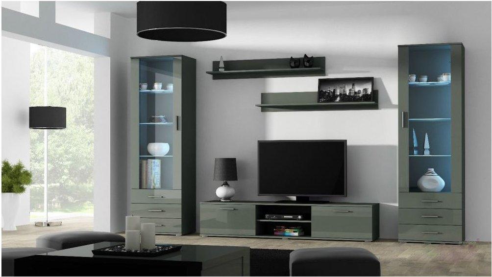 Artcam Obývacia stena Soho 4 Farba: Sivá/sivý lesk