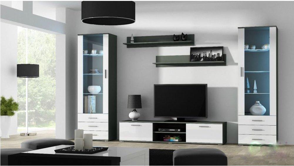 Artcam Obývacia stena Soho 4 Farba: Sivá/biely lesk