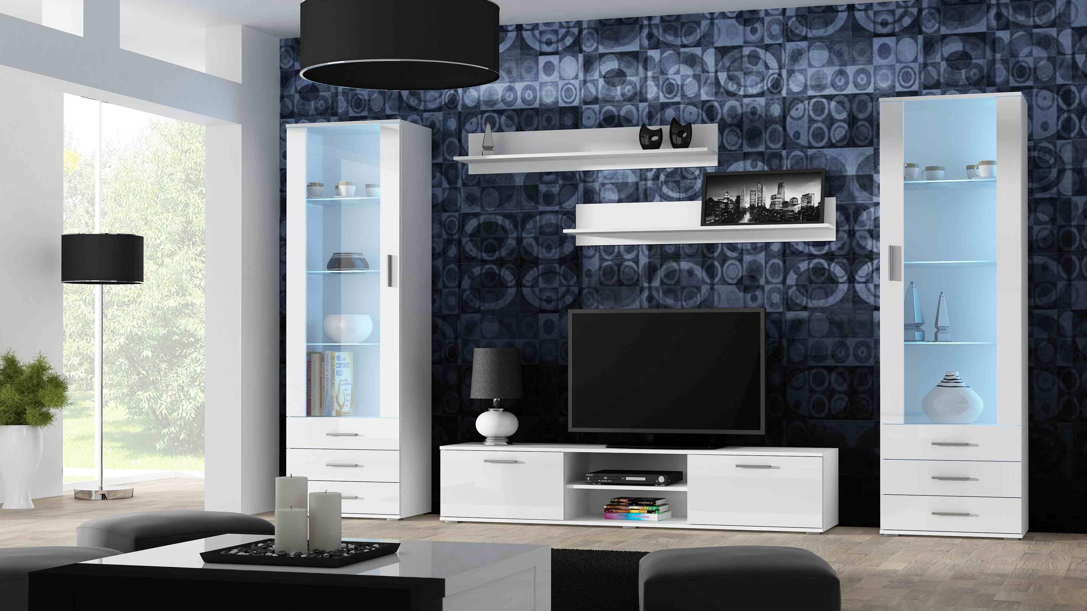 Artcam Obývacia stena Soho 4 Farba: Biela/biely lesk