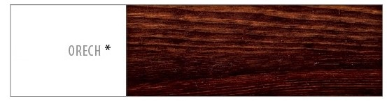 Posteľ z masívu Euro 180 Farba: Orech