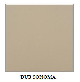 Drewmix Jedálenský set MAX 5 / BOSS 7 (1+6) Farba: Sonoma