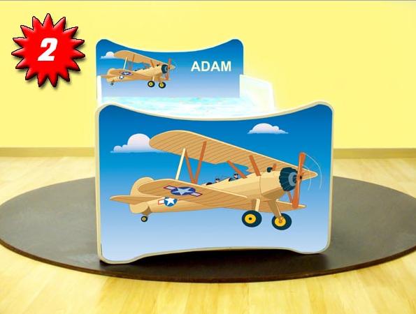 Detská posteľ SMB Lietadlo 2 Prevedenie: So šuflíkom