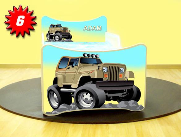Detská posteľ SMB Jeep 6 Prevedenie: So šuflíkom