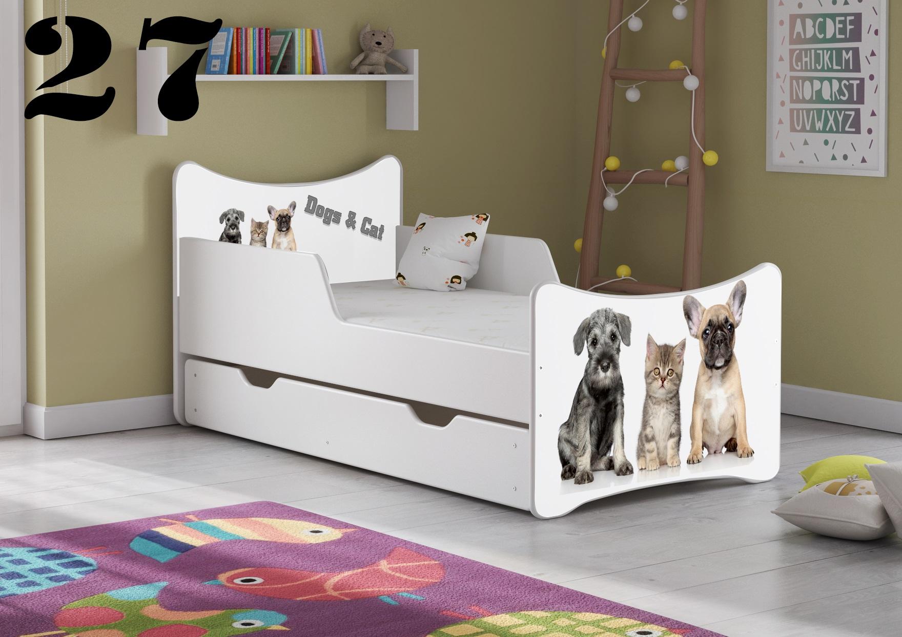 Detská posteľ SMB - zvieratá Prevedenie: Obrázok č.27