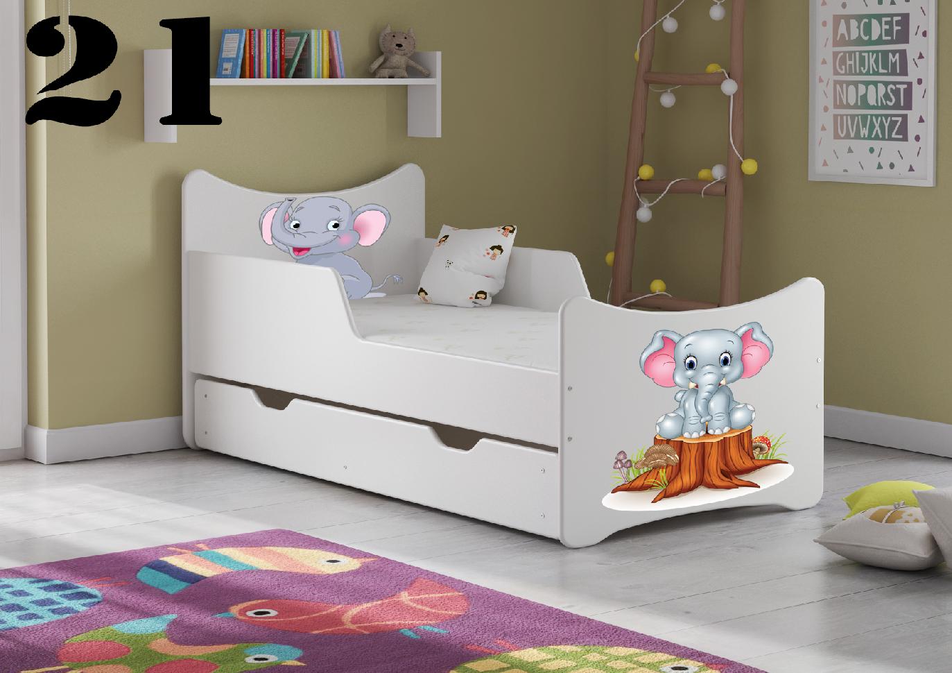 Detská posteľ SMB Dinosaurus 8 Prevedenie: So šuflíkom