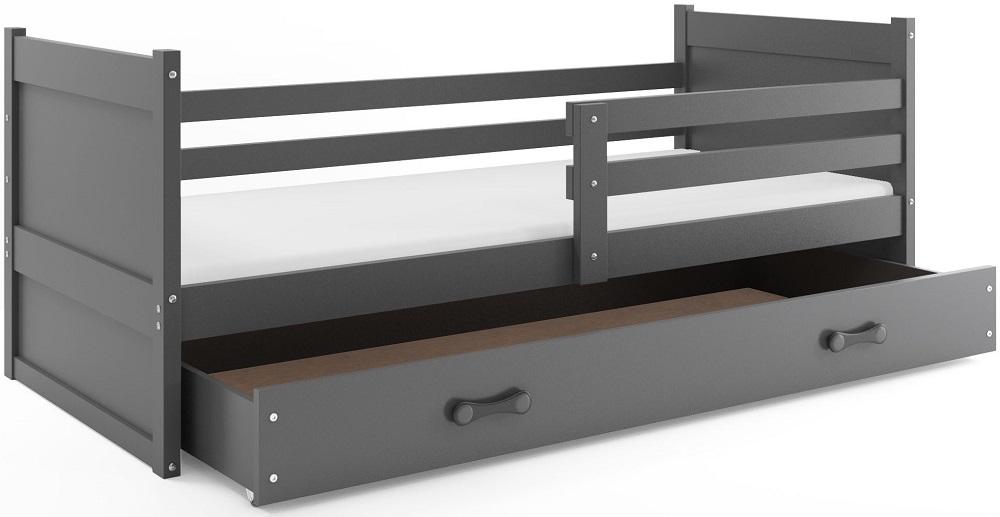 BMS Detská posteľ RICO 1 / SIVÁ 190x80 Farba: Sivá