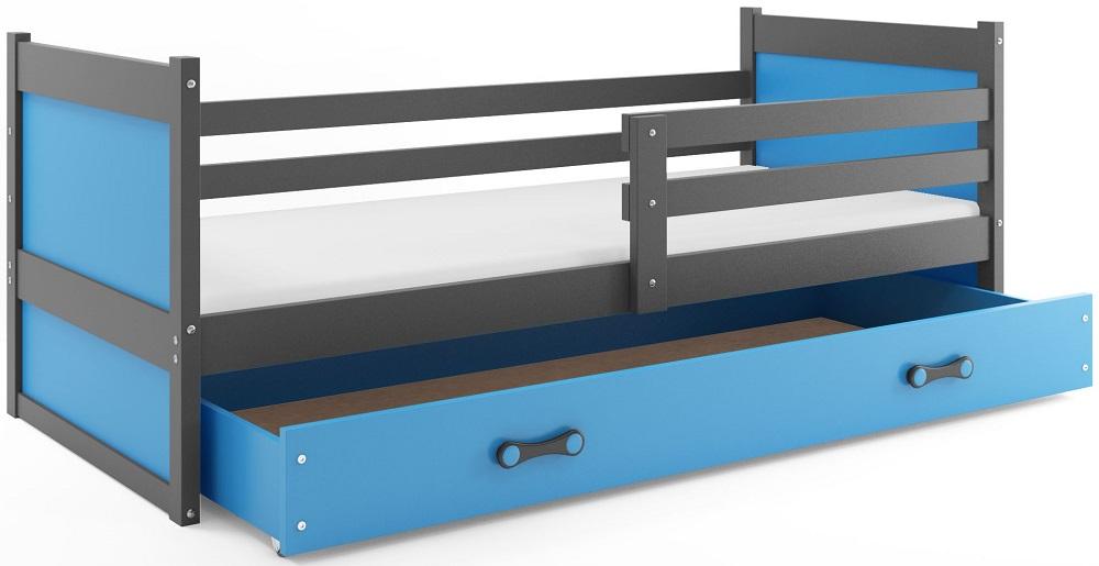 BMS Detská posteľ RICO 1 / SIVÁ 190x80 Farba: Zelená - do vypredania zásob