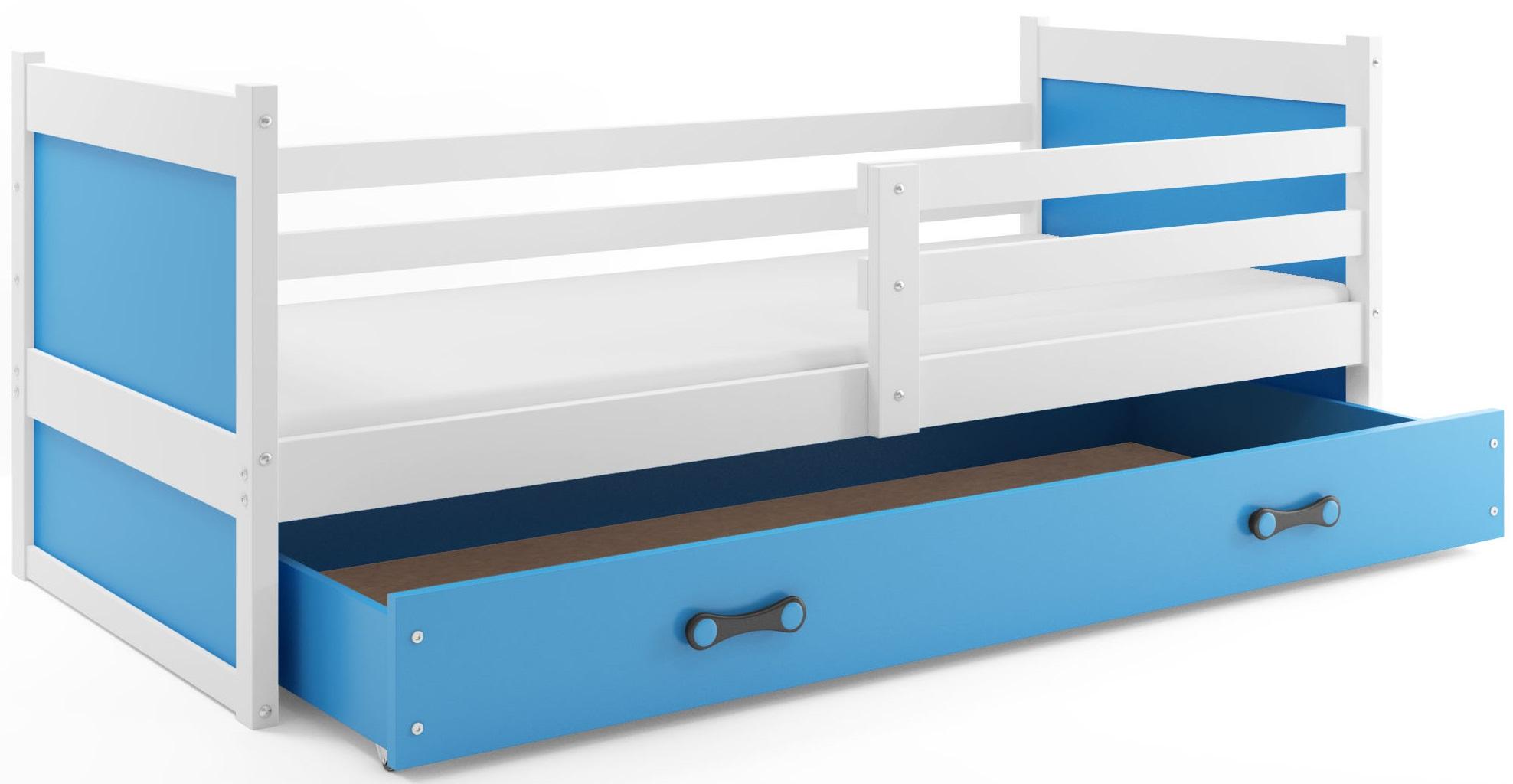BMS Detská posteľ RICO 1 / BIELA 200x90 Farba: Biela - do vypredania zásob