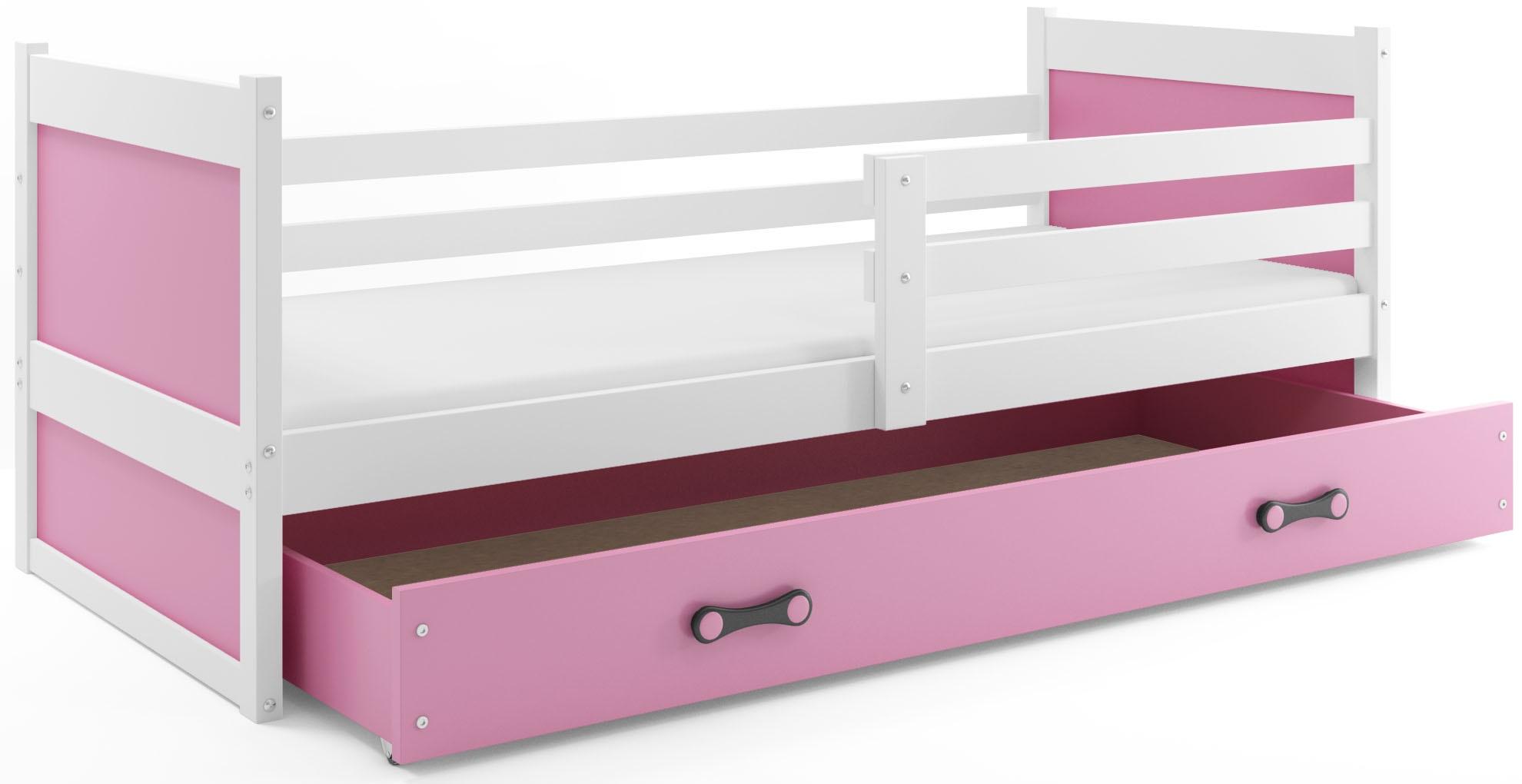 BMS Detská posteľ RICO 1 / BIELA 200x90 Farba: Fialová - do vypredania zásob